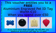 FREE ENGRAVED PET ID TAG
