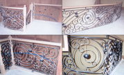 Wrought Iron Interior Handrails,  Staircase railings,  Iron stair rails