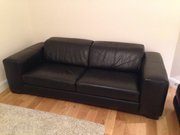 Brand New Black Leather Couch